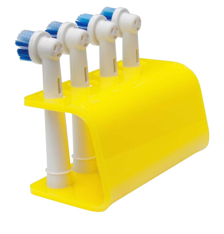 detiene 2 o 4 teste plastica giallo limone si adatta Oral-B Seemii detiene per testa spazzolino elettrico 4 teste