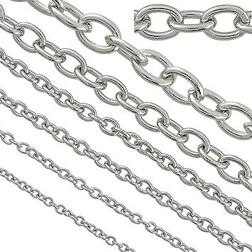 Amazon.com: Cadenas de acero inoxidable para bisutería y ...