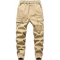 YoungSoul Pantalones Cargo para Niño con Cintura Elástica