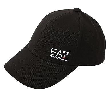 EA7 HAT EMPORIO ARMANI BLACK BASEBALL CAP  Amazon.co.uk  Clothing ab52749a468