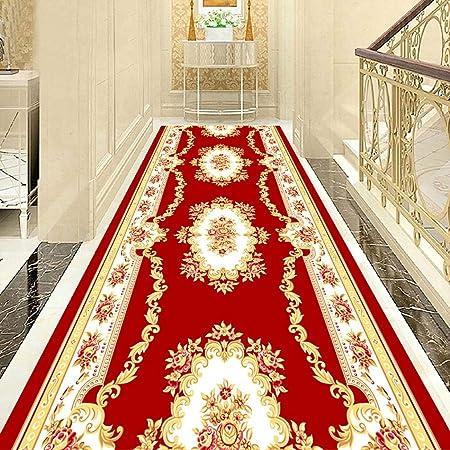 DT Alfombra de Pasillo Alfombra roja del Pasillo Alfombra del Pasillo Alfombra Lavable de la Escalera del hogar del Pasillo Anti-descoloramiento, tamaño Adaptable (Color : Blended, Size : 1.2x8m): Amazon.es: Hogar