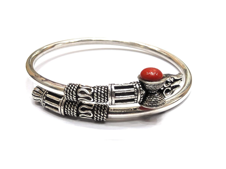 969b80d6b2 ... kukshya 925 pure silver trishul damroo kada bracelet bangle for women  and men flexible online at ...