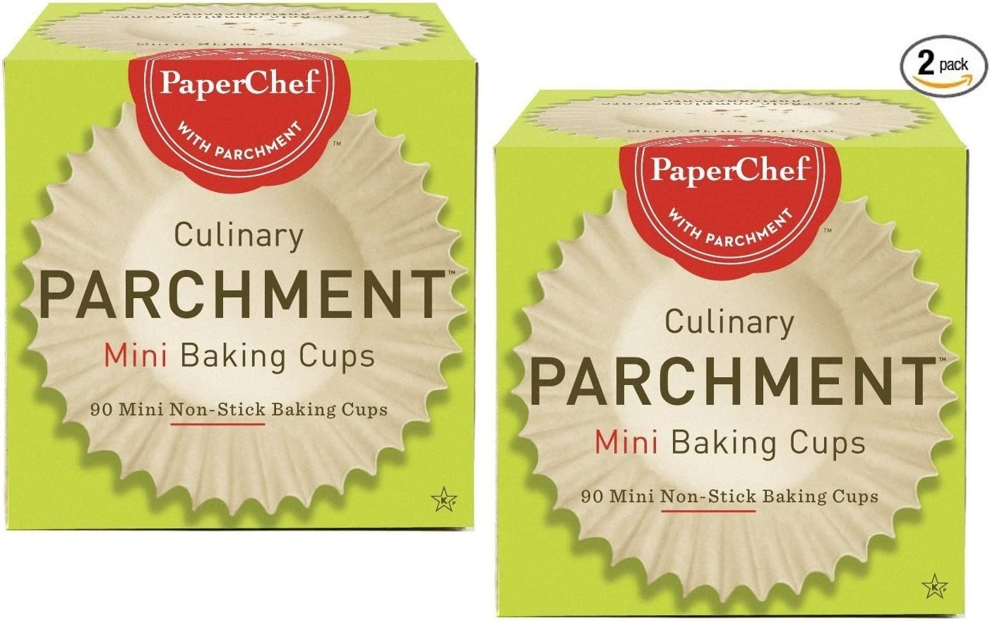 (2 Pack) Mini Paper Cupcake Liners / Baking Cups, 90-ct/Box 71rJRYCp23L