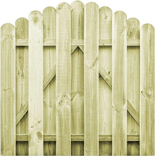 UnfadeMemory Puerta Madera Jardin Rústico con Diseño Arqueado ...