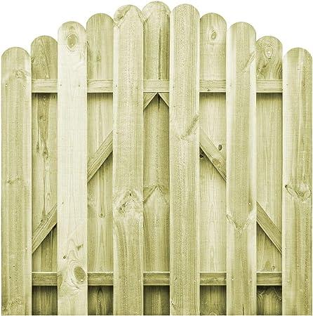 UnfadeMemory Puerta Madera Jardin Rústico con Diseño Arqueado,Entrada para Valla de Jardín Patio o Terraza,Madera de Pino Impregnada FSC (100x100cm): Amazon.es: Hogar