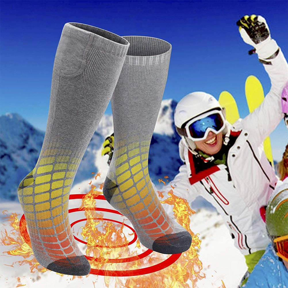 NEWMERE Chaussettes chauffantes /électriques Rechargeables Chaussettes chauffantes /à Piles Chaussettes de Ski Les Chaussettes Thermiques pour Temps Froid Peuvent /être lav/ées