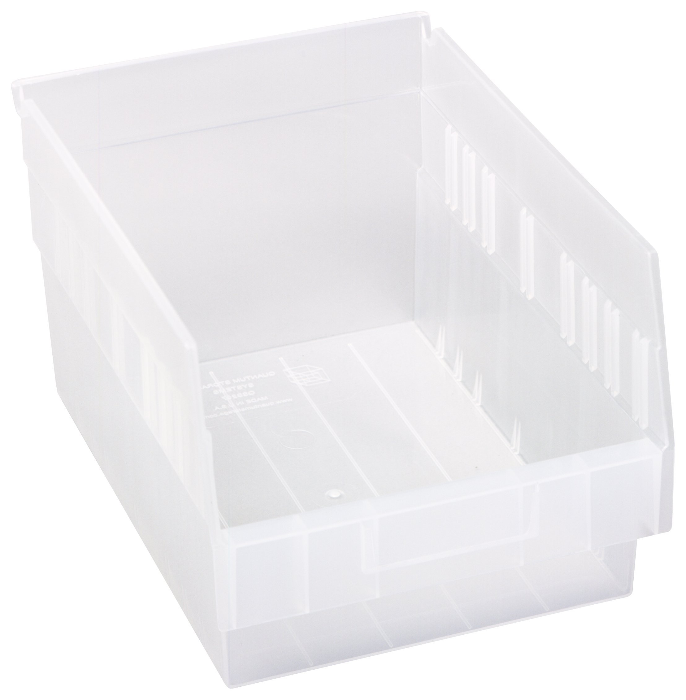 Quantum QSB207CL Store More Shelf Bin, 11-5/8'' Length x 8-3/8'' Width x 6'' Height, Clear, Pack of 20 by Quantum