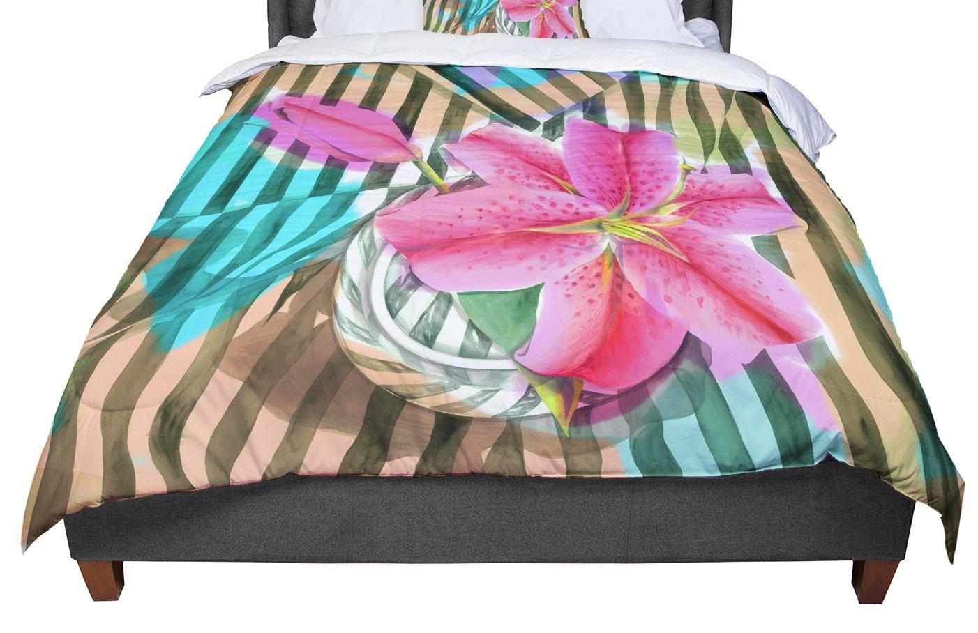 68 X 88 KESS InHouse Ebi Emporium Flamenco Moves Orange Pink Twin Comforter
