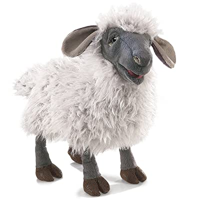 Folkmanis Bleating Sheep Hand Puppet Plush, Gray/Multicolor: Toys & Games [5Bkhe0800527]