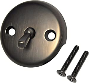 DANCO Overflow Plate with Trip Lever, Oil Rubbed Bronze, 1-Pack (89472)