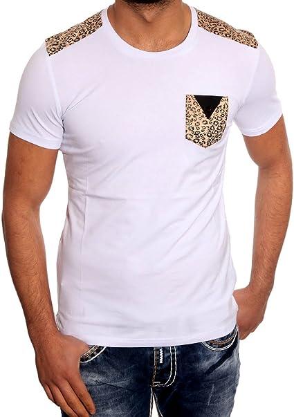 John K Hombre Camisa leopardo Camisetas Polo Manga Corta Camiseta JP de 1031 Camisa: Amazon.es: Ropa y accesorios