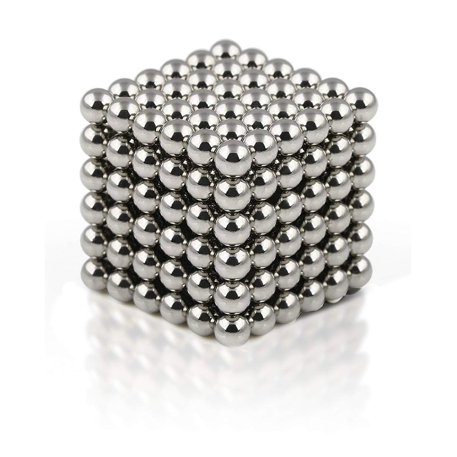 Boredom Silver truwire 5MM Magnetic Ball Set for Office Stress Relief Desk Sculpture Toy Perfect for Crafts Jewelry and Education Magnetized Fidget Cube Provides Relief for Anxiety ADHD Autism