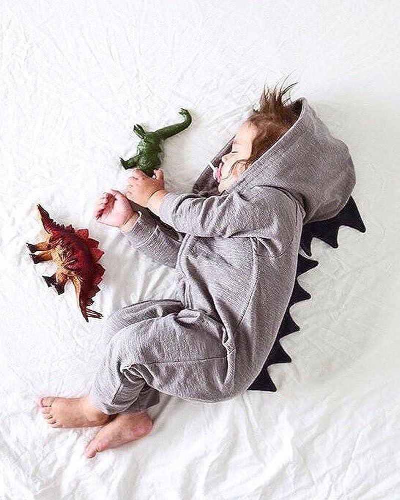 Minetom Bebé Recién Nacido Manga Larga Dinosaurio De La Historieta ...