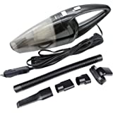 Car Vacuum Cleaner 120W, Warmoor 12V 3000PA Suction Portable Handheld Wet & Dry Auto Vac, 16.4FT(5M)Power Cord (Black)