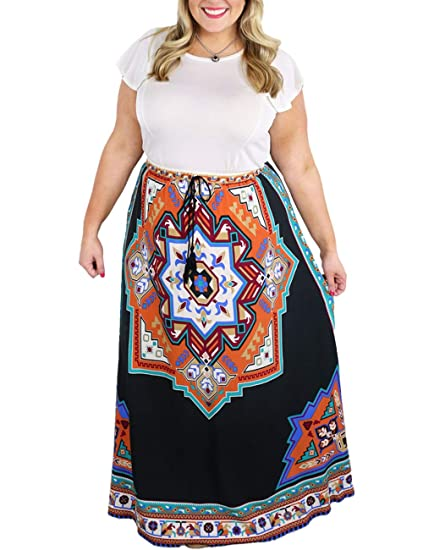 Amazon.com: Womens Plus Size African Print Dresses Maxi High ...
