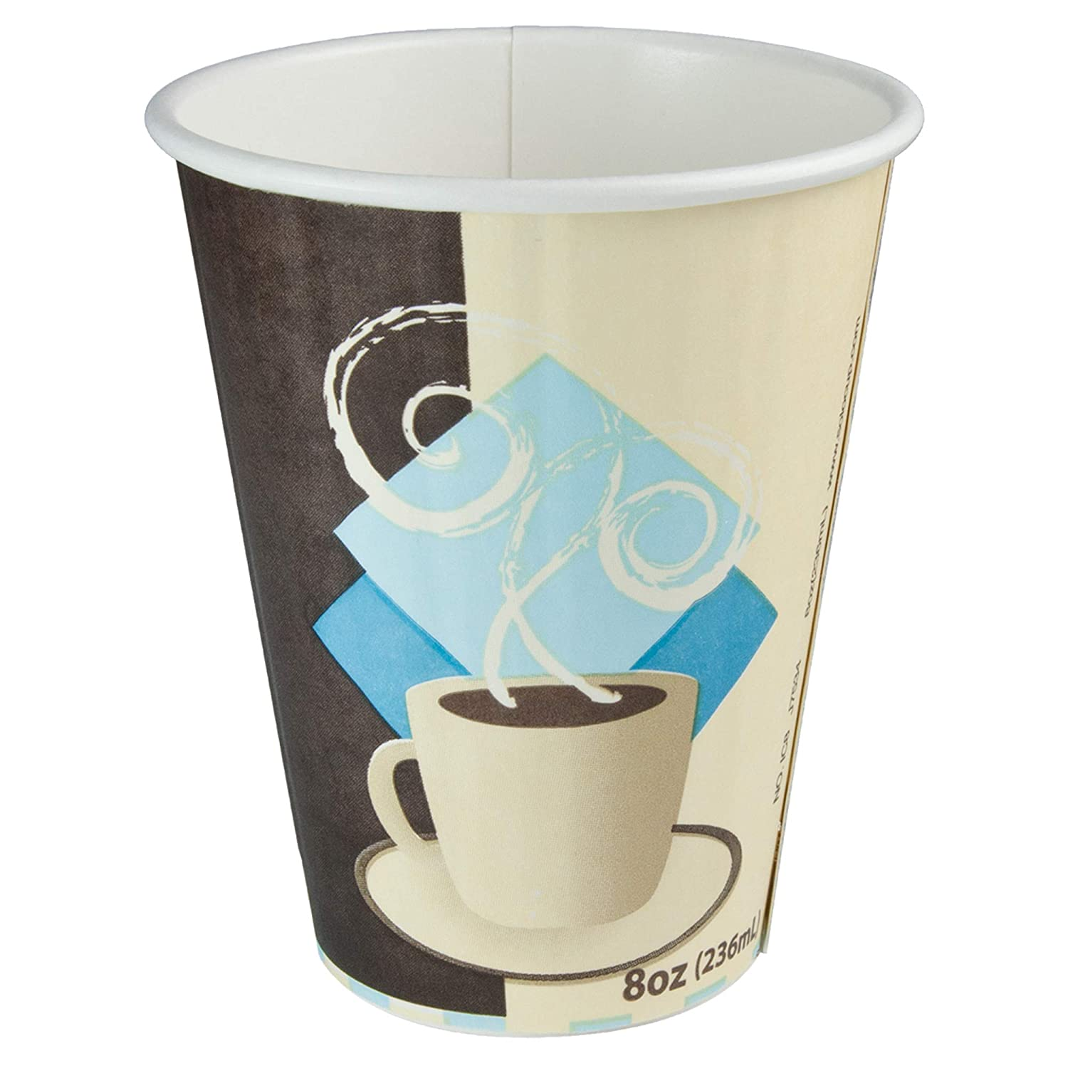 Solo IC8-J7534 8 oz Tuscan Cafe Duo Shield insulated Paper Hot Cup (Case of 1000)