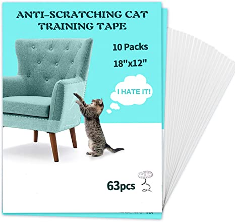 AONESY Premium Cat Couch Protector Cat Furniture Protector Anti-Scratch Training Tape Cat Scratch Deterrent for Couch Sofa Door