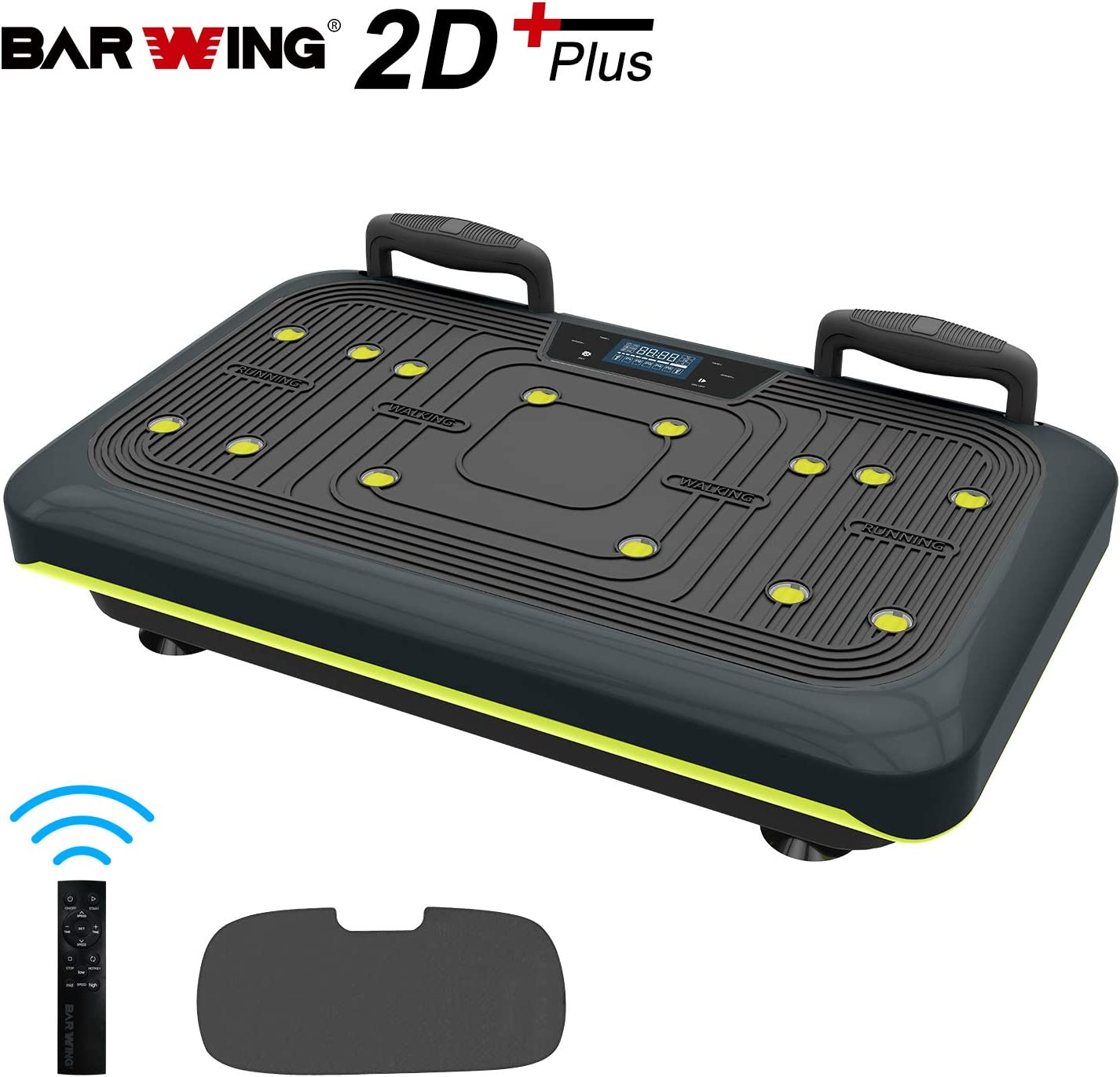 BARWING Vibration Platform, Whole Body Workout Vibration Fitness Machine, Push Up Bars, Home Training Equipment for Body Shape Massage