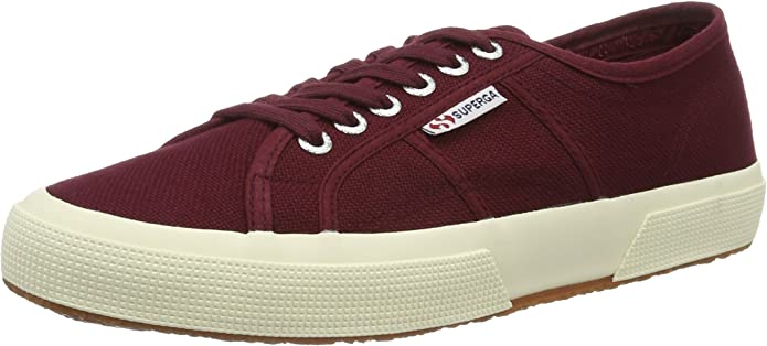 Superga 2750 Cotu Classic Sneakers Low-Top Unisex Damen Herren Rot (Dark Boredeaux)
