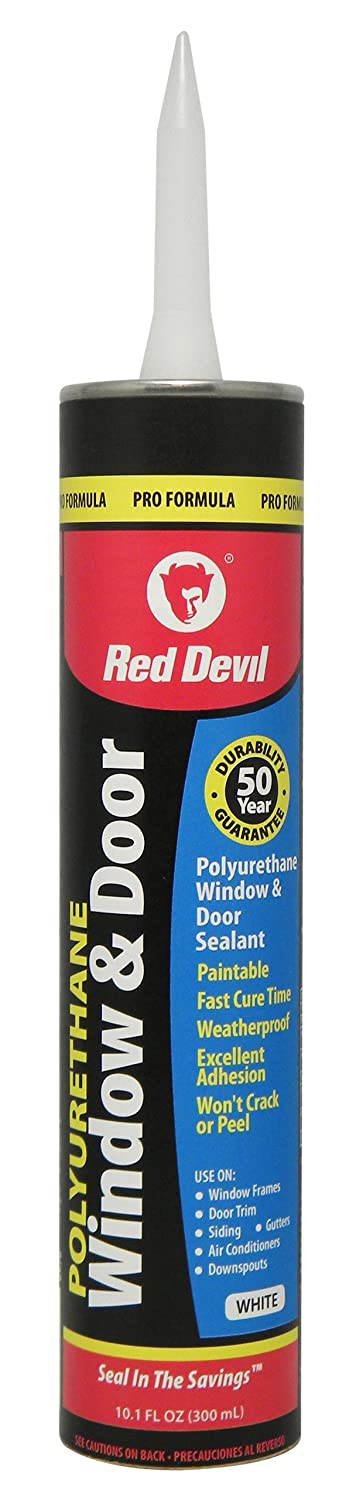 Red Devil 0970 Polyurethane Window Door Sealant White 10.1 Ounce