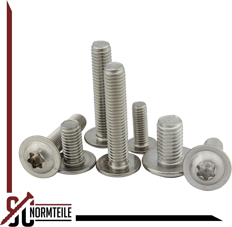 /-/ISO 7380-2/TX,/de/acero inoxidable ISR 20/tornillos de cabeza plana con Brida y A2 V2A