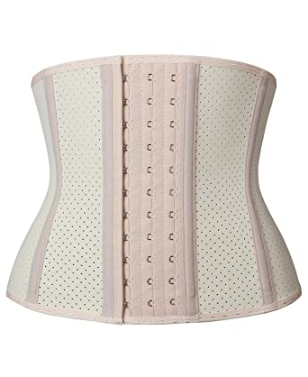 df045b1f4f9 YIANNA Women s Underbust Breathable Short Torso Waist Trainer Corset for  Weight Loss Sports Workout Hourglass Body