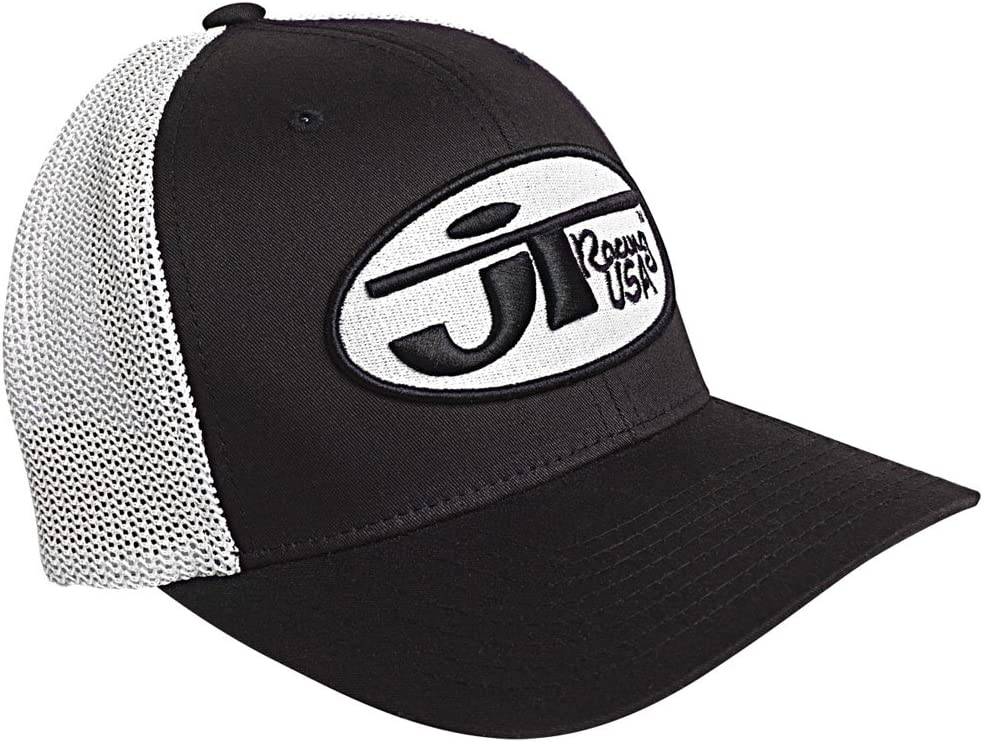 JT Racing USA Hat with Oval Logo Black//White, Large//X-Large