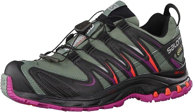 Salomon L39071500, Zapatillas de Trail Running para Mujer, Light TT Black Coral Punch, 45 1/3 EU: Amazon.es: Zapatos y complementos