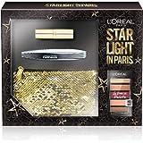 L 'Oréal Paris Makeup Pochette regalo Star Light en Paris, máscara pestañas postizas Mariposa, Petite Paleta sombra de ojos nudist y pintalabios, Color Riche Satin 226, Pochette 3piezas