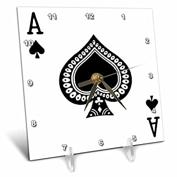 Amazoncom 3drose Ace Of Spades Playing Card Black Spade Suit