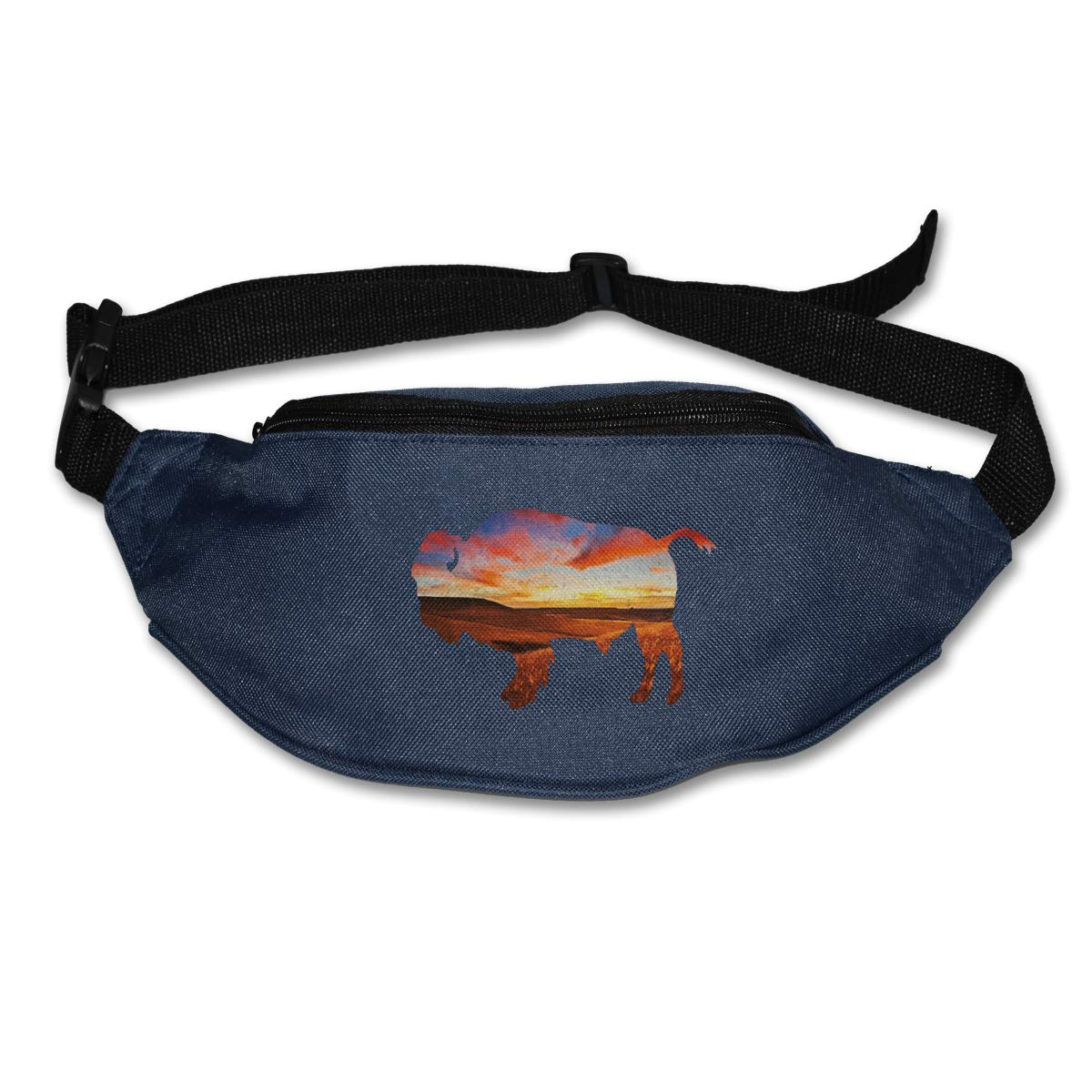 Colorful Buffalo Sport Waist Bag Fanny Pack Adjustable For Hike