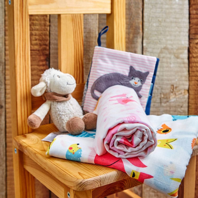 weich /& atmungsaktiv bambuswald/© Baby Pucktuch Mulltuch Spucktuch aus Bambus /& Baumwolle 4er Packung 40x40 60x60 80x80 120x120 Puckdecke Mullwindeln Mullt/ücher Stoffwindeln Schmusetuch
