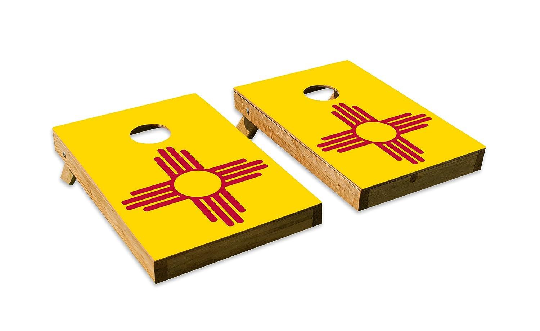 新しいメキシコ州旗デザインCornhole/Bean Bag Tossボードセット – Made in USA木製 – 2 ' x3 'テールゲートサイズ – Includes 8 corn-filled Beanバッグ B07DZXSXC9  Tailgate
