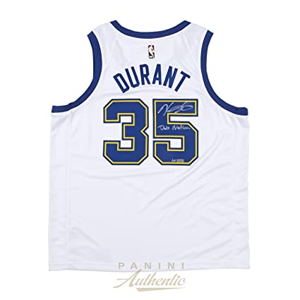 Kevin Durant Autographed Nike GSW Hardwood Classics White Swingman Jersey  with quot Dub Nation quot  ~ 482d9b0bc