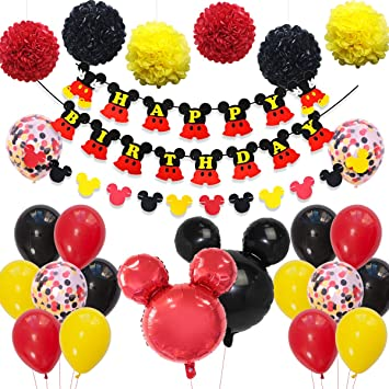 Fangleland Mickey y Minnie Party Decorations Fiesta de ...