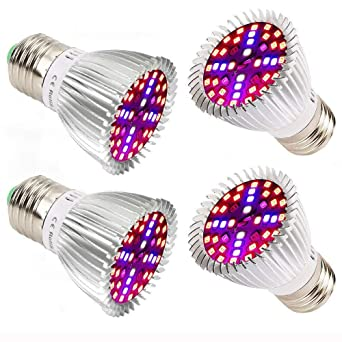 Plant Growth Bombillas,Esbaybulbs E27 40W Led Grow Light Lampara Crecimiento de Plantas/Espectro