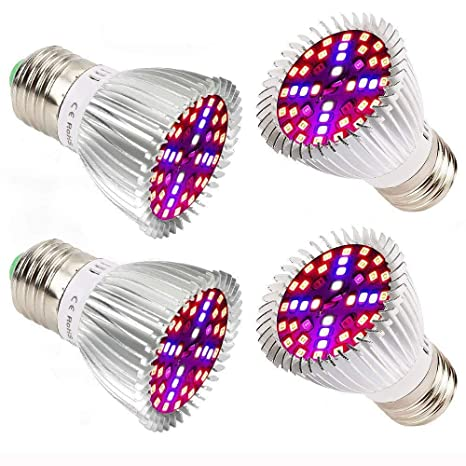 Plant Growth Bombillas,Esbaybulbs E27 40W Led Grow Light Lampara Crecimiento de Plantas/Espectro completo Cultivo Interior Iluminacion para las ...