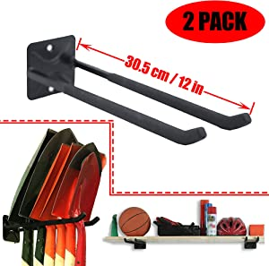 Ultrawall Wall Mounted Hanger Garden Tool Storage Rack Organizer,Heavy Duty Multi-Tools Utility Wall Hooks for Snow Board Hook Golf Rack Tire Rack