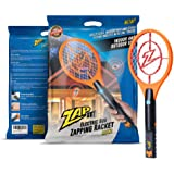 ZAP IT! Bug Zapper Rechargeable Mosquito, Fly Killer and Bug Zapper Racket - 4,000 Volt - USB Charging, Super-Bright LED Light to Zap in The Dark - Safe to Touch