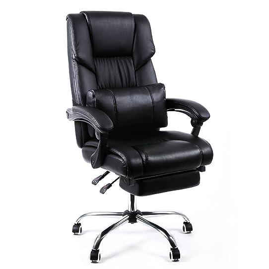 Songmics Fauteuil de bureau Chaise pour ordinateur avec repos