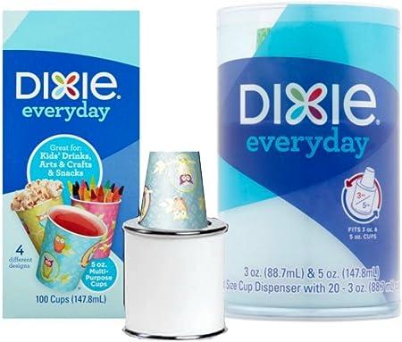 Dixie dispensador de vasos diario 5 oz tazas juego de dispensador de bebida, aperitivos, para manualidades – 1 & 100 5 oz tazas: Amazon.es: Hogar