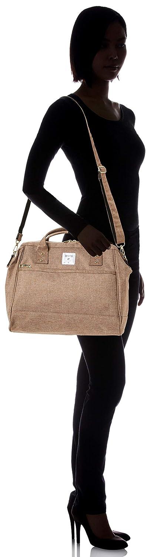 Anello Grande axelväska GU-H2072 CL klassisk bärnsten poly spänne 2WAY axelväska eller Boston väska bra textur BEIgE