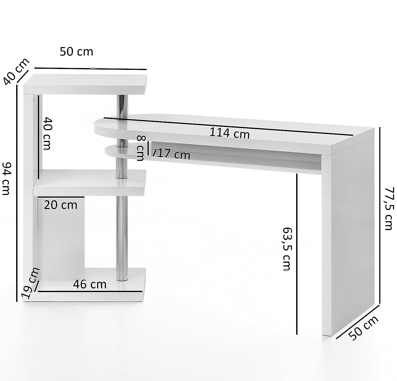 FineBuy Schreibtisch 145x50x94 cm Bürotisch mit Regal Computertisch Tisch Modern