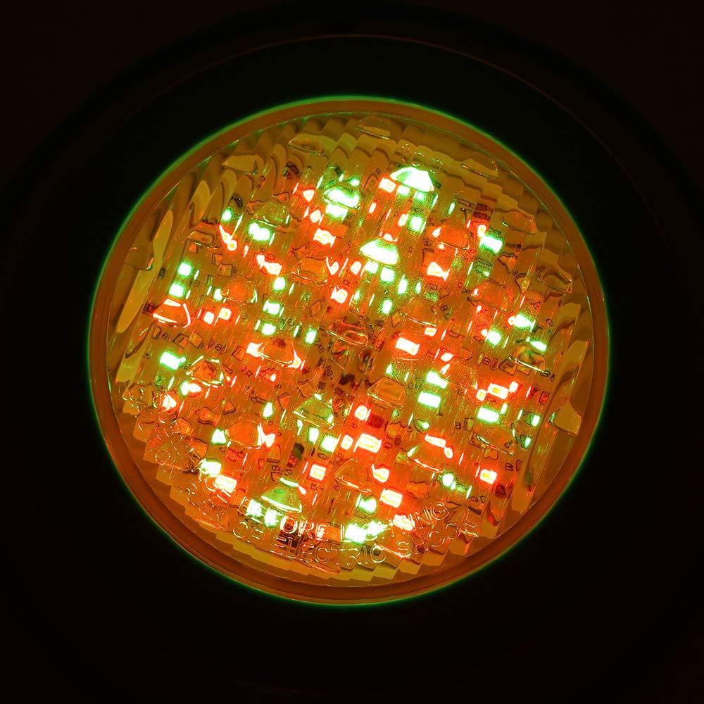Aquarium Konesky 15W RGB LED Poolbeleuchtung 12 LED Unterwasser LED Licht IP68 wasserdicht Schwimmen Unterwasserlampe AC12V Multi Color mit RGB Fernbedienung f/ür Pool Wasserfall Teich