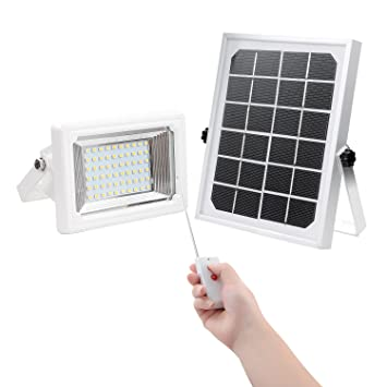 Amazon solar flood lightfindyouled warm white 60led 260 lumen solar flood lightfindyouled warm white 60led 260 lumen outdoor waterproof security landscape lights with workwithnaturefo