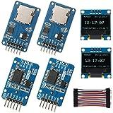 WayinTop Real Time Clock Kit, 2pcs DS3231 AT24C32 IIC RTC Clock Module + 2pcs Micro SD Mini TF Card Adapter Reader…