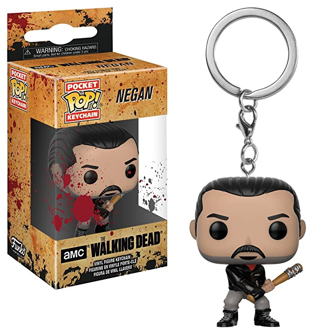 Funko- The Walking Dead: Negan Pocket Pop! Keychain,, Standard (21189)