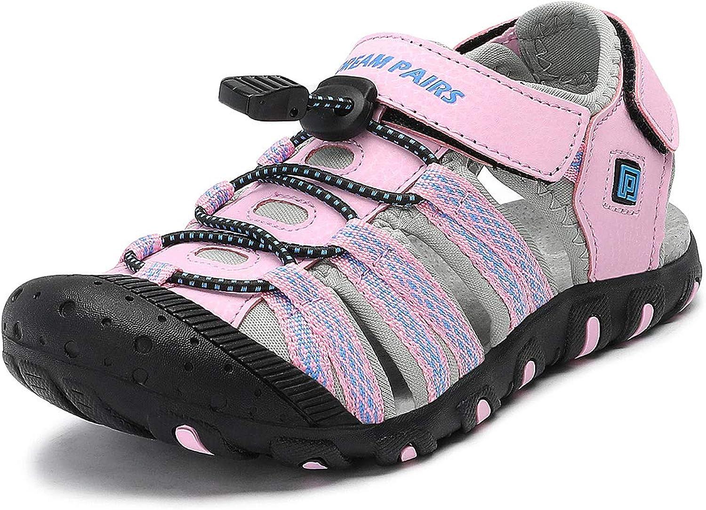DREAM PAIRS Boys /& Girls Toddler//Little Kid//Big Kid Closed-Toe Outdoor Summer Sandals