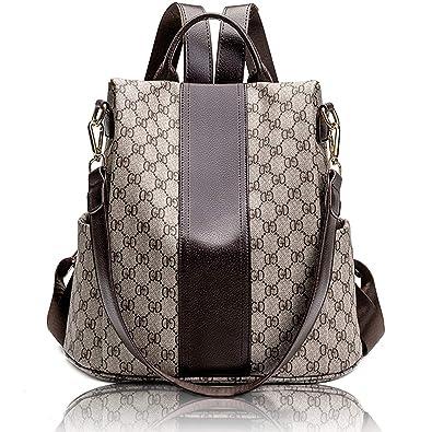 906068a6cef6 Women Fashion Backpack Purse Anti Theft Waterproof Leather Rucksack School  Shoulder Bag