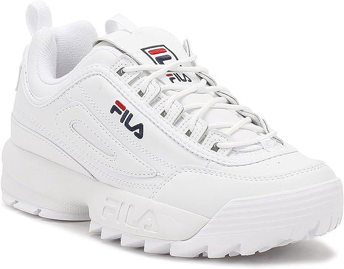 Fila Disruptor II 2 Mujer Low Zapatillas Running Zapatos Deportivos Blanco: Amazon.es: Zapatos y complementos